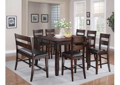 Image for Maldives Counter Height Table w/ 4 Side Chairs and Bench