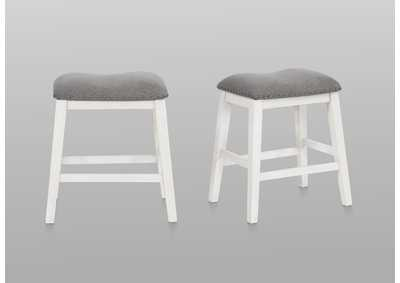 Image for Maskey White Counter Height Stool