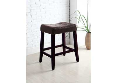 Image for Kent Espresso Saddle Chair 24 H