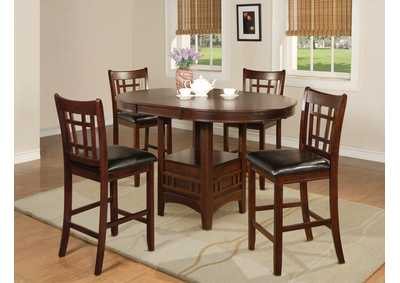 Image for Hartwell Cherry Counter Height Extension Dining Table w/4 Counter Height Chairs
