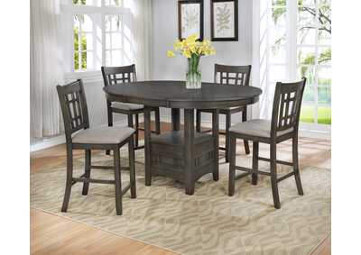 Image for Hartwelll Grey Counter Height Extension Dining Table w/4 Counter Height Chairs