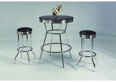 Image for 3Pc Bar Table/Chair Set (Swival)