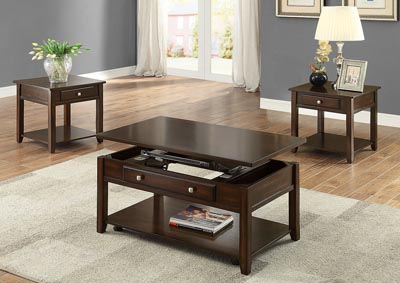 Julian Lift Top Cof Table W/ Casters,Crown Mark