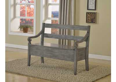 Image for Kennedy Grey Storage Bench