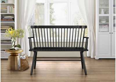 Image for Jerimiah Black SpindleBack Bench