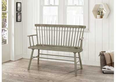 Image for Jerimiah Grey SpindleBack Bench