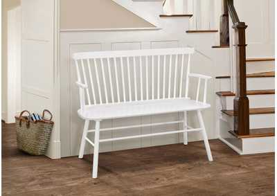 Image for Jerimiah White SpindleBack Bench