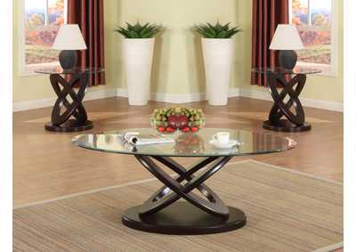 Image for Cyclone Glass Top Coffee Table