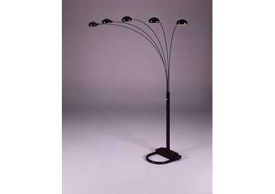 Image for Peacock Shade Floor Lamp Bk 82 H