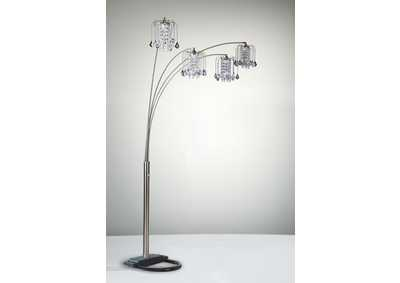 Image for Rain Drop Arc Lamp 84 H Pewter