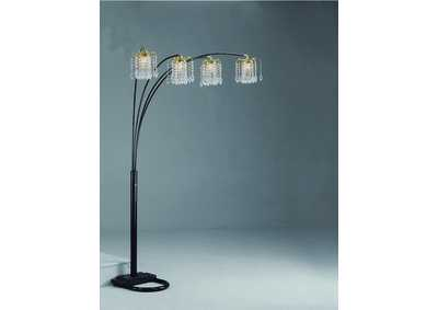 Image for Rain Drop Black Arc Lamp 84 H