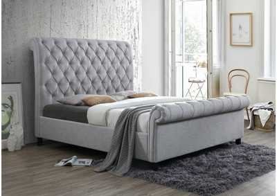 Image for Kate Grey Upholstered King Bed