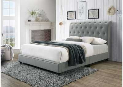 Image for Janine Grey Queen Platform Bed W/Usb