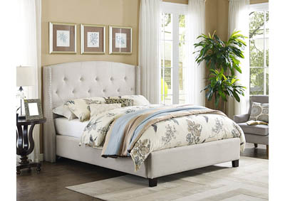 Image for Eva Ivory Upholstered Queen Platform Bed