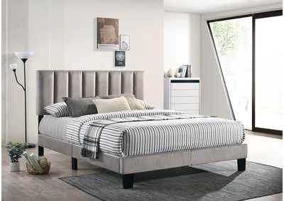 Image for Lyric Grey Twin Platform Bed Velvet