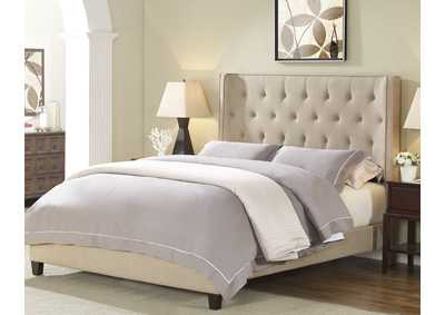 Image for Gaby Full Platform Bed W/ Adjustable Headboard Gold