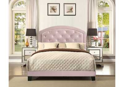 Image for Gaby Full Platform Bed W/ Adjustable Headboard Pink