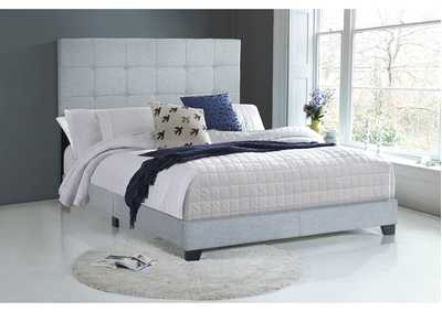 Florence Light Grey Queen Upholstered Bed,Crown Mark