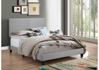 Image for Erin Light Grey Full Nailhead Bed