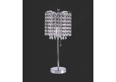 Image for Chrome Table Lamp 19 H