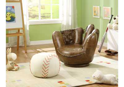Image for Baseball Glove Chair & Ottoman
