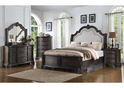 Image for Sheffield Sleigh Bed Kq Rl Antq Gy