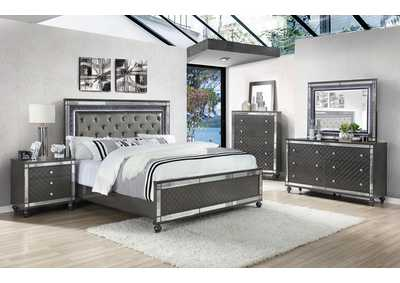 Image for Refino Stainless Steel/Black Queen Bed W/ Dresser & Mirror