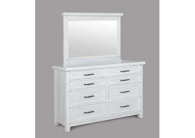 Image for Maybelle Antique White Dresser & Mirror
