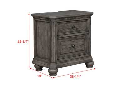 Lavonia Night Stand W/ Usb,Crown Mark