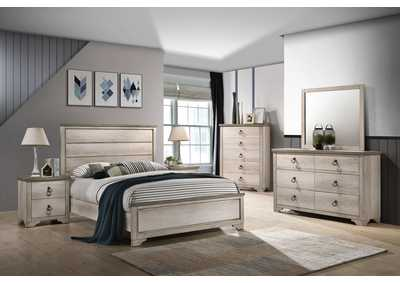 Image for Patterson White Full Panel Bed W/ Dresser & Mirror