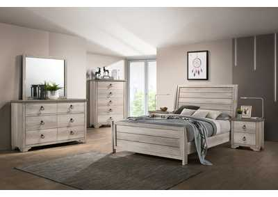 Image for Petterson Grey Twin Sleigh Bed