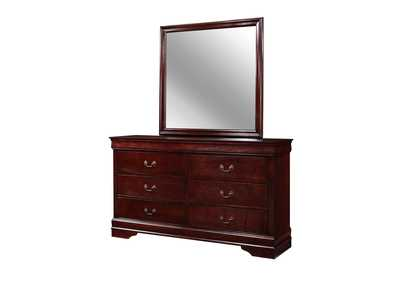 Image for Louis Phillipe Dark Cherry 6-D Dresser Cherry
