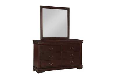 Image for Louis Phillipe Cherry Dresser & Mirror