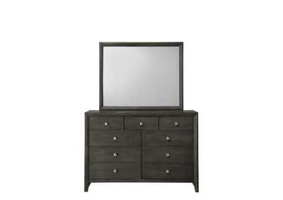 Evan Grey Dresser & Mirror,Crown Mark