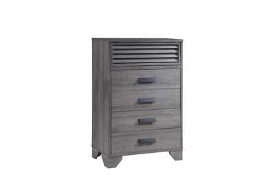 Sarter Light Grey Chest,Crown Mark