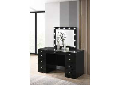 Image for Avery Black Vanity Top W