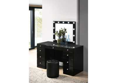 Avery Black Vanity Set W/ LED
