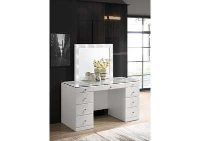Image for Avery White Vanity Top W/Led