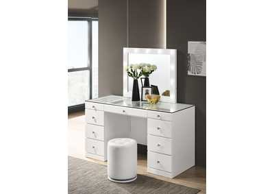 Image for Avery White Vanity Set W/ LED