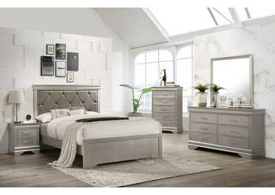 Image for Amalia Champagne Full Bed W/ Dresser & Mirror