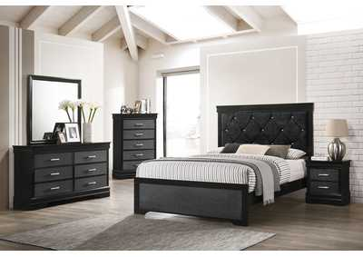 Image for Amalia Black Full Bed W/ Dresser & Mirror