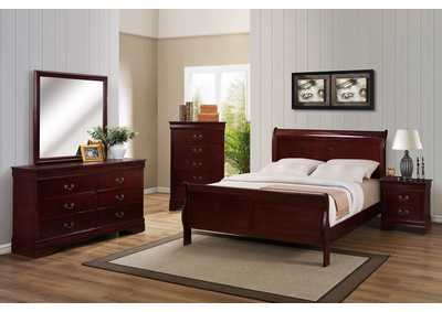 Image for Louis Philip Cherry Twin Bed
