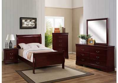 Image for Louis Phillipe Dark Cherry Twin Bed