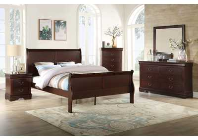 Image for Louis Philip Cherry Full Sleigh Bed