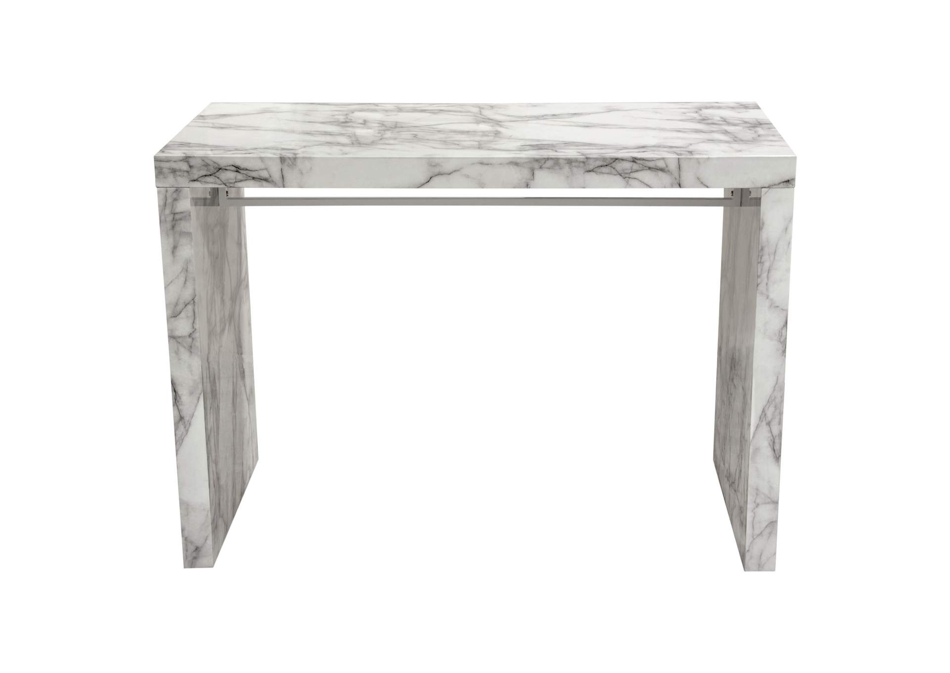 Icon Faux Marble Waterfall Bar Height Table Muebles Imperiales
