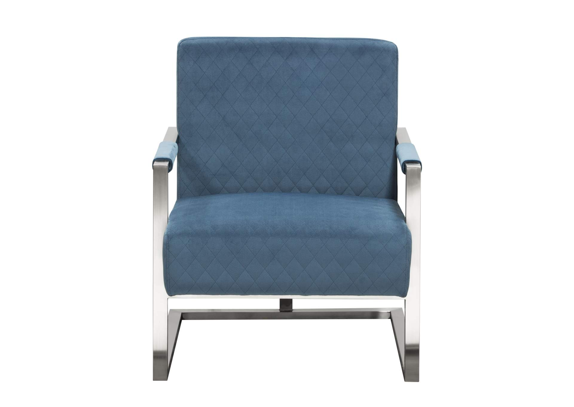 Picture of: Studio Accent Chair In Royal Blue Velvet With Diamond Tuft And Stainless Frame By Nova Lifestyle Big Box Furniture Discount Furniture Stores In Miami Florida