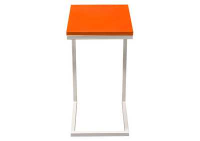 Image for Sleek Metal Frame Accent Table with Gloss Top & Metal Frame