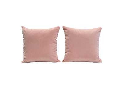 "Image for Blush Pink [Set of 2] 16"" Square Accent Pillows in Blush Pink Velvet by Diamond Sofa"