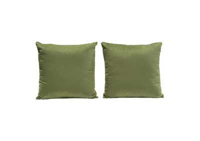 "Image for Sage Green [Set of 2] 16"" Square Accent Pillows in Sage Green Velvet by Diamond Sofa"