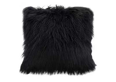 "Image for Black 18"" Square Accent Pillow by Diamond Sofa in Black Dual-Sided Faux Fur"